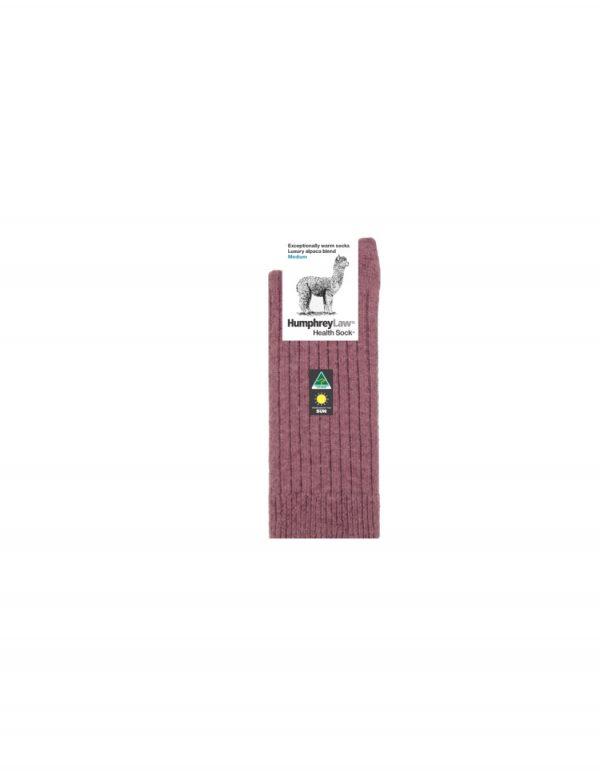 01C Alpaca Health Sock Old Rose