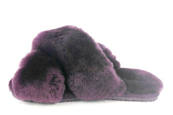 UGABY Abby Slide Purple slipper front