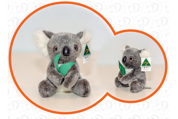 ABT Lilly Koala with gum leaves 8 inch