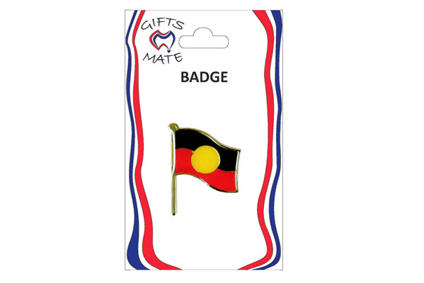 Badge wavy flag