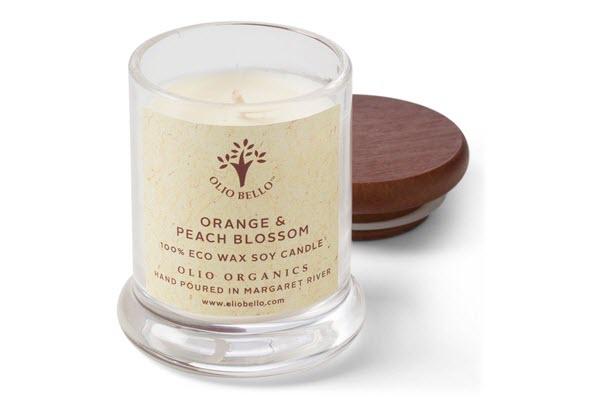Candles Orange and Peach Blossum