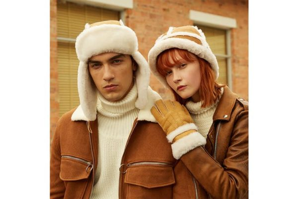 Sheepskin Aviator hat CS012