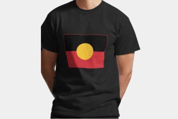 aboriginal flag main tee shirt new