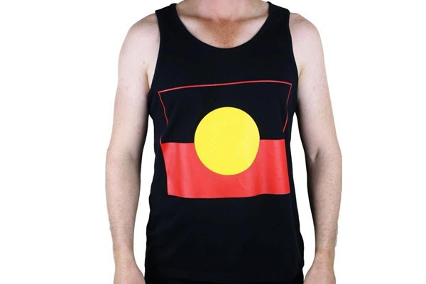 aboriginal flag singlet main
