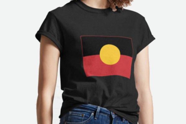 aboriginal flag tshirt main